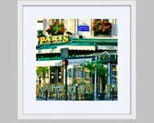 Paris Framed Photography Print - Saint Germain Cafe Brasserie Photograph - Ready to Hang Wall Hart - Colorful Home Decor  Travel Photography