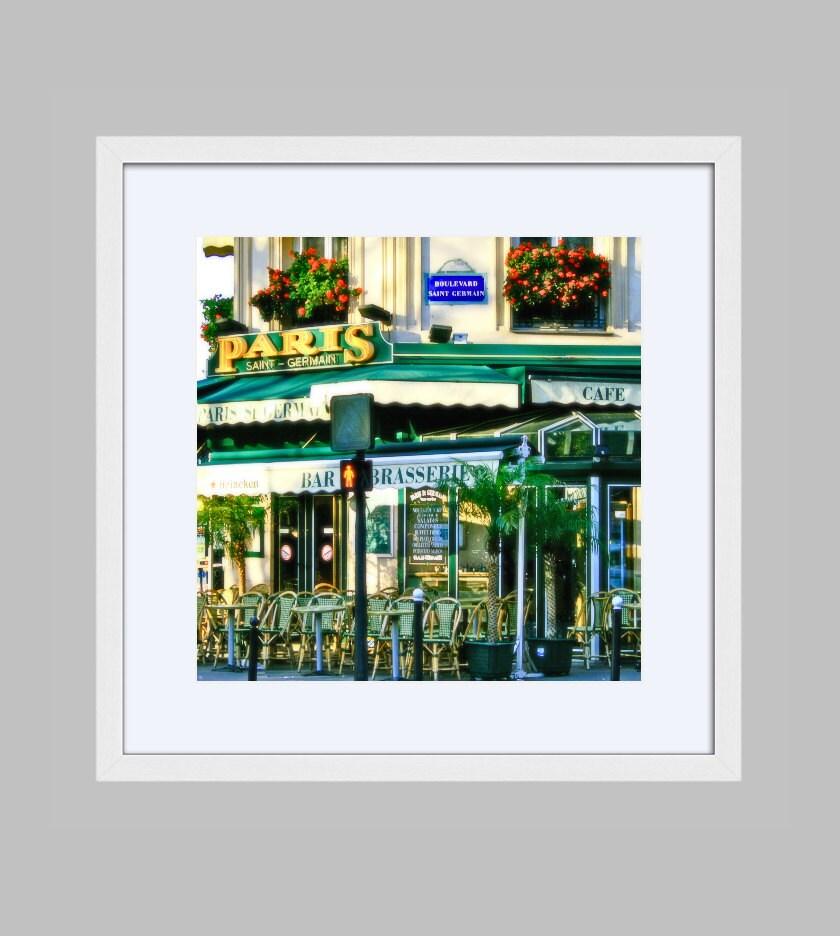 Paris Framed Photography Print Saint Germain Cafe Brasserie