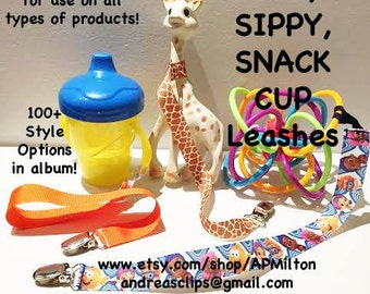 Sophie Leash with FLAT RATE Shipping - Guppies Mickey Giraffe and More - Toy Leash Sippy Cup Leash