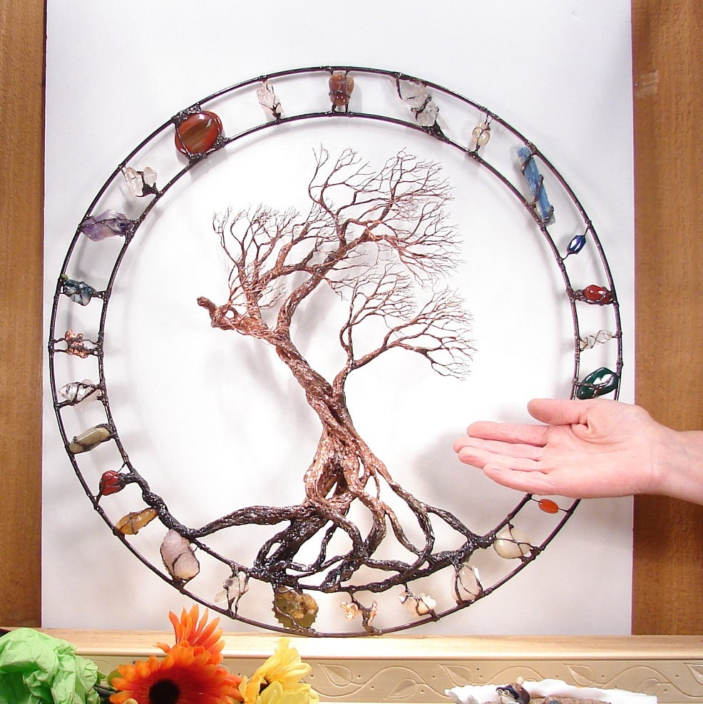 Metal Tree wall art wire Tree Of Life Sculpture Circle of