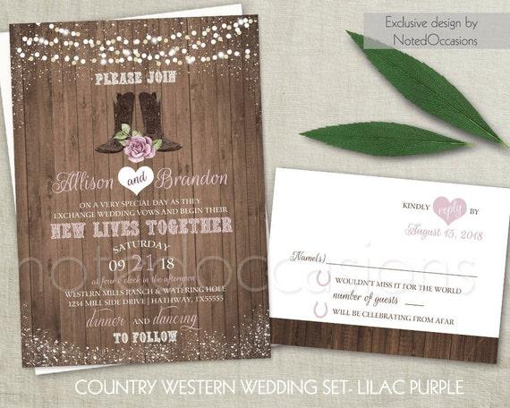 Western Wedding Invitations Templates: Western Wedding Invitations Set Country Wedding Cowboy Boots