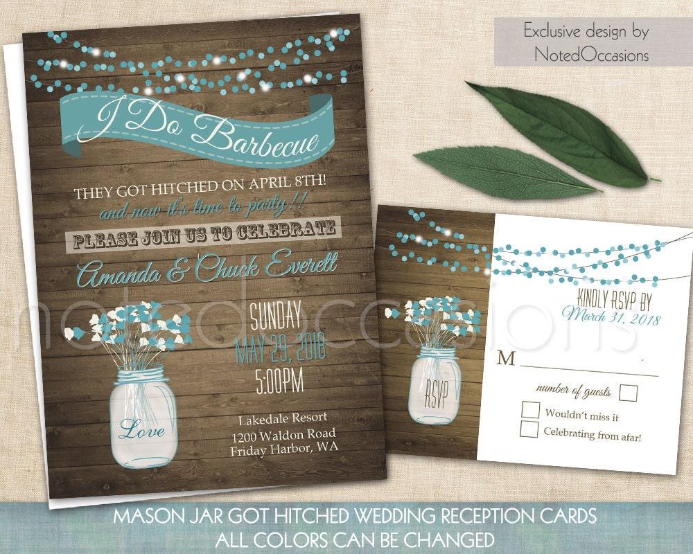 Wedding And Reception Invitations: I Do BBQ Wedding Invitation Printable Wedding By
