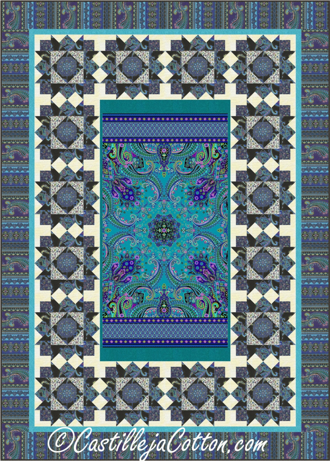Twin Quilt Patterns Free : Mystique Twin Quilt ePattern 4814-1 Twin quilt pattern