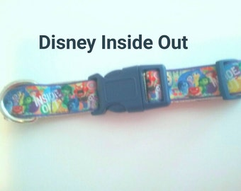 Disney Inside Out dog collar One of a kind size adjustable Medium size dog collar