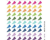 Printable Planner Stickers - Rainbow Cheer Megaphone Stickers - Planner Labels Fits Erin Condren, The Happy Planner, Filofax and more!