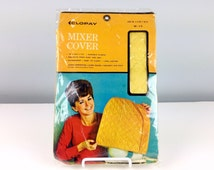 Clopay Mixer Cover, Quilted Yellow Mixer Cover, NOS, Vintage New in Package