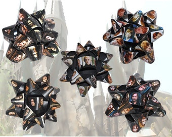 BOGO Sale Summer Clearance Wizard Magic Inspired Handmade Gift Bows - Snape Bellatrix Draco Ron Sirius