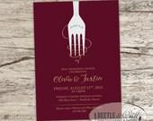 Giant Fork Rehearsal Dinner Printable Invitation