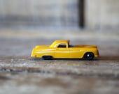 Vintage Tootsietoy Vintage Ford Thunderbird / Yellow 1950s T-Bird Collectible Toy Car