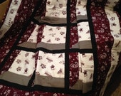 Lap Quilt or Quilted Throw Made With Texas A&M Fabric