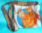 Alf tote bag purse by Felices Happy Designs retro I heart the 80s upcycled