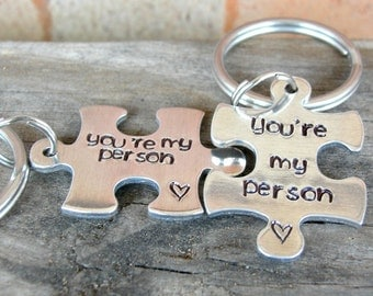 You're My Person - Best Friend Gift - BFF Gifts - Puzzle Keychains - You're My Person Key Chains - Sister's Gifts