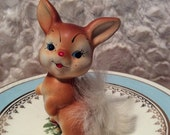 PRE SPRING SALE Vintage Enesco Fluffy Tail Figurine made in Japan 1960s Anthromorphic