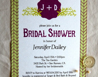 Email bridal shower etsy for Bridal shower email invitations