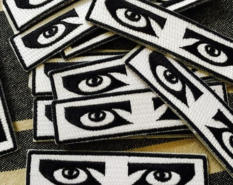 Siouxsie Goth Eyes Iron-On Patch