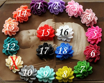10PCS 18colors Wholesale Beautiful Mix Colorful Rose Flower Resin Cabochon  --20X23mm(CAB-BW-MIXSS)