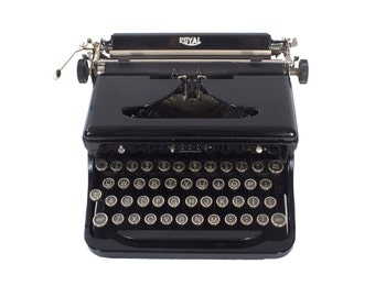 Rejuvenated Royal Typewriter Model O - Vintage -1930s - Working - Touch Control - Manual - Portable - Glass Keys - FREE Domestic Shipping