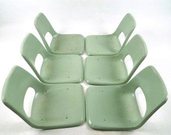 Brunswick seafoam green fiberglass chair top set