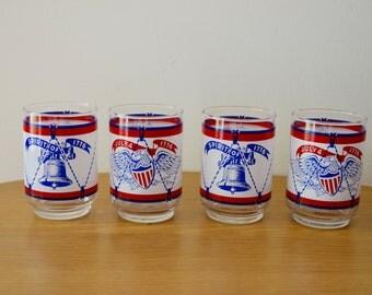 Spirit of 1776 Bicentennial Commemorative Glasses