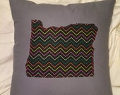 OREGON Jaded Lines PILLOW