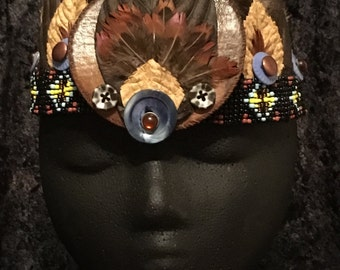 "Tribal Gypsy Headdress Crown Head Band ""Bad As Me"""