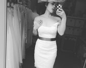 Barbara-off the shoulder wedding dress - one of a kind