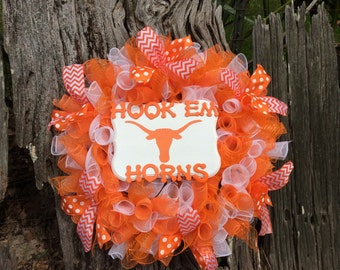 Texas Longhorn  Wreath, Longhorn Decor, Texas Longhorns, Wreath, Texas Decor