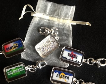 State License Plate Charms