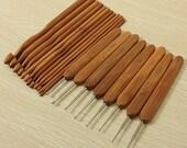 20 pcs carbonized bamboo crochet set