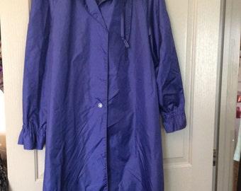 Sale! Rain coat plus sz totes label raincoat purple ruffled collar longer length no flaws By totes label