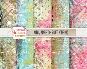 Grunged-Out {ten} - 12x12 Inch Digital Paper, Instant Download, Digital Art, Mixed Media, Scrapbooking, Photography Tools, Altered Art :)