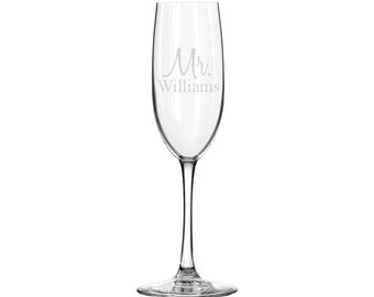 Personalized Champagne Glass - 6oz - 10621 Mr. Personalized