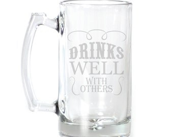 Large Beer Mug - 25 oz. - 2121 Drinks Well with Others
