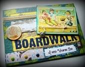 Under the Boardwalk, Beach Card, Vitamin C Sea, Old fashioned beach themed card, Friendship card, Best friend beach card, Nautical card