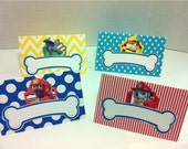 PAW PATROL Food Tents or Lables for Birthday Party - Set of 8