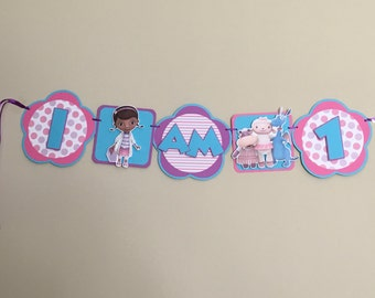 DOC MCSTUFFINS Birthday Party Highchair Banner - 1st or 2nd