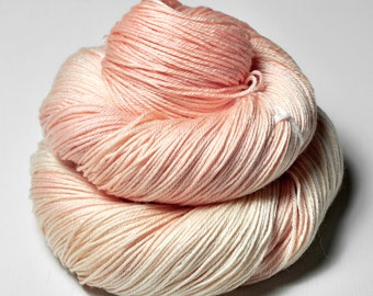 Young Flamingo flying too high OOAK  - Merino/Silk Fingering Yarn Superwash