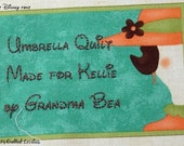 Quilt Label - Lady In A Hat, Custom Made & Hand Embroidered