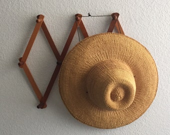 vintage woven straw aztec mexican sun hat