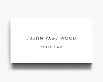 Place card template | Etsy