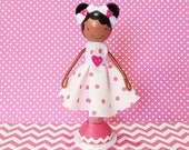 SweetHeart Destiny African American Miniature Wooden Clothespin Doll