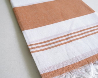 SALE 50 OFF/ Turkish Beach Bath Towel Peshtemal / Dark Coral / Wedding Gift, Spa, Swim, Pool Towels and Pareo