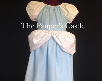 Girls/Child's/Toddler Casual Cotton Pull Over Disney Cinderella Princess Dress / Costume
