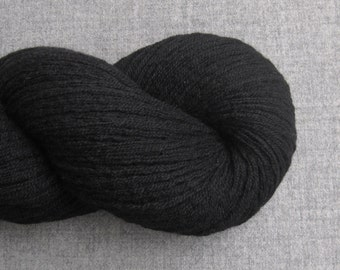 Pure Cashmere DK Recycled Yarn, Black, 460 Yards, Lot 120716