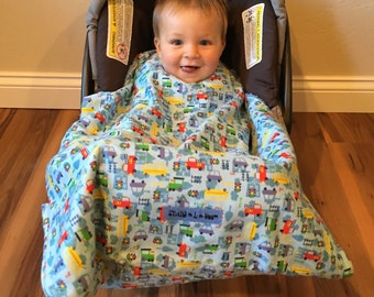 Infant Carrier/ Car Seat Blanket-Vehicles Snug L Bee