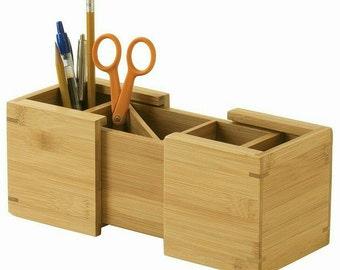 Wooden Expandable Pencil Holder