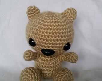 Mini Teddy Bear Stuffed Animal/Amigurumi/Mini Woodland Creature