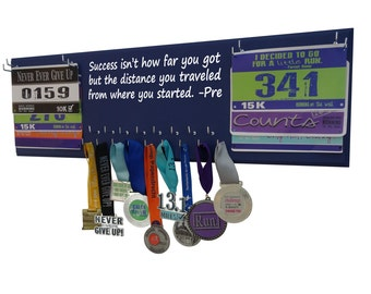 Marathon medals display rack - Half-marathon medal holder, Success isn't how far you got…PRE, Gifts for runners