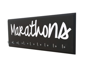 Marathon Medal Display: Proudly showcase your Medals, gifts for runners, wall mounted wooden signs and holder