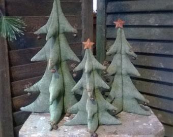 Digital Pattern Primitive Pine Tree 3D in 3 sizes